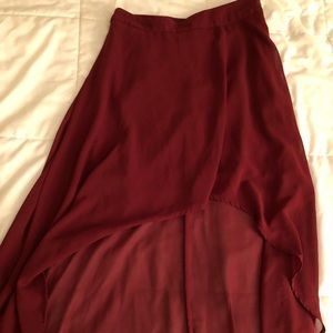 Forever 21 High/Low Red Skirt